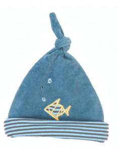 Bonnet Jeux d'Enfants - Bleu poisson