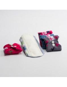 3 serviettes hygiéniques lavables Regular Bambou - Coloris divers