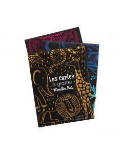 7 cartes à gratter brillantes - Les petites merveilles
