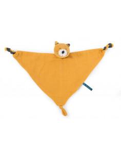 Doudou lange chat moutarde Lulu - Les Moustaches