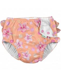 Maillot de bain avec absorbant 12 mois - Coral Hibiscus