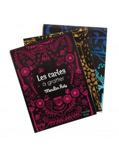 7 cartes à gratter fluo - Les petites merveilles