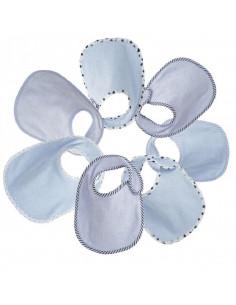 Bavoir naissance - lot de 7pc Essentiel - Bleu
