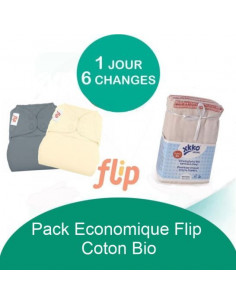 Pack Economique Flip Coton Bio - Coloris au choix