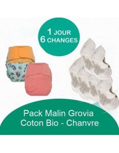 Pack Malin Grovia Chanvre Coton Bio - Coloris au choix