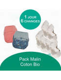 Pack Malin Grovia Coton Bio - Coloris au choix