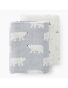 Tetra coton bio 60X70cm - Polar bear