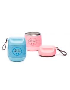 Boîte isotherme pour purée 350ml - Bleu