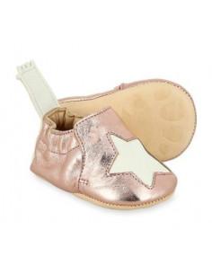 Chaussons 0-6 mois Blumoo Etoile - Pink White