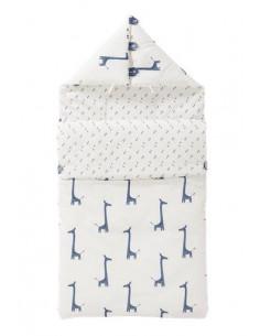 Nid d'ange coton bio - Giraf indigo blue