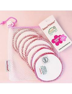 Disque démaquillant coton bio lavables - 10pc