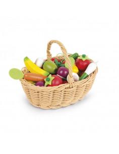 Panier de Fruits et Légumes - Bois