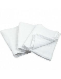 Lot de 3 tétras coton bio 56x56 cm - Blanc
