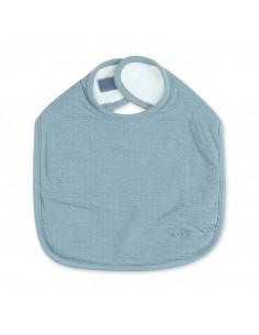Bavoir imperméable tetra jersey - Bleu minéral