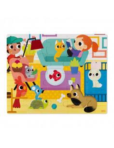 Puzzle tactile - Les animaux domestiques