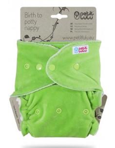 Couche lavable spéciale nuit Petit Lulu - Green velours
