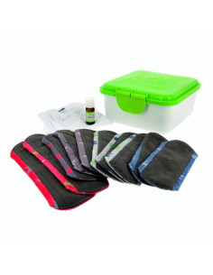 Kit complet serviettes hygién. bambou/minky Stay dry - Coloris divers