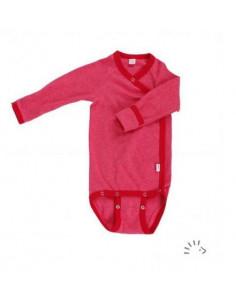 Body croisé coton bio manche longue 62-68 - Rouge