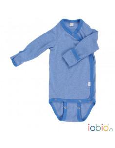 Body croisé coton bio manche longue 62-68 - Bleu