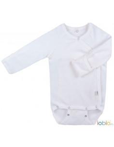 Body Kimono LM coton Bio T62-68 - Blanc