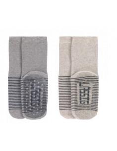Chaussettes anti-dérapantes coton bio 19-22 - Grey