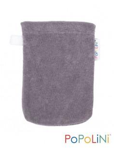 Gant de toilette coton Bio éponge 11*16cm - Gris