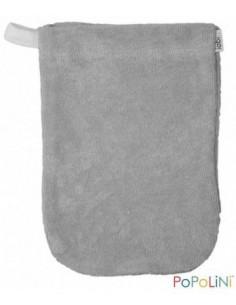 Gant de toilette coton Bio éponge 11*16cm - Taupe