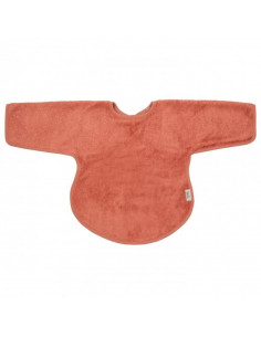 Bavoir tablier avec manches Bambou - Apricot Blush