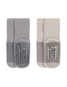 Chaussettes anti-dérapantes coton bio 23-26 - Grey