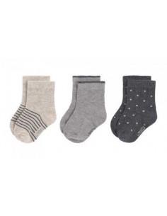 Chaussettes été coton bio 15-18 - Grey