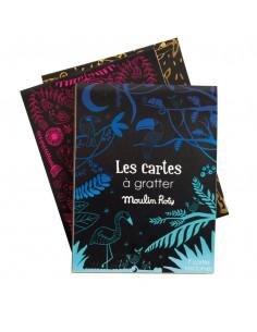 7 cartes à gratter nocturnes - Les petites merveilles