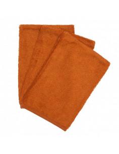 Gant de toilette bambou 3pc - Inca Rust