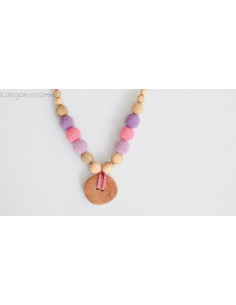 Collier d'allaitement - Purple & Pink Button Necklace / Juniper