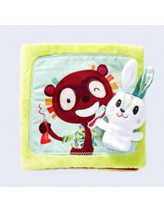 Livre tissu - Petit lapin dentiste