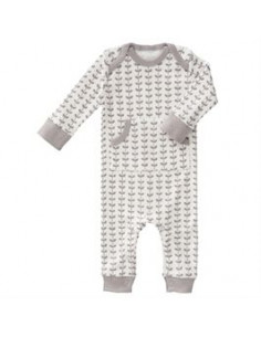 Pyjama coton bio sans pied - Leaves Grey