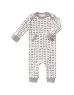 Pyjama sans pieds Fresk coton Bio - Leaves Grey