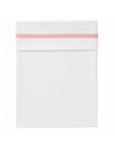 Drap de lit coton bio 120x150 - Herringbone Mellow rose