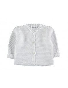 Knitted Links Jacket White 6-9 mois