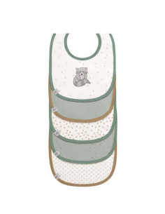 Bavoir imperméable coton bio 5pcs - Raccoon