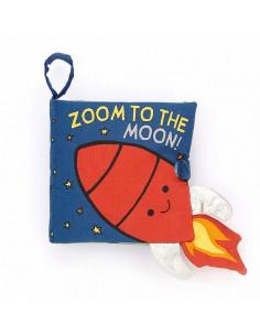 Livre tissu Zoom to the moon