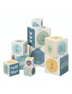 Cubes à empiler Fresk - Bleu