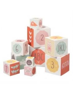 Cubes à empiler Fresk - Rose