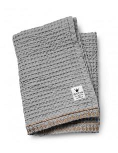 Couverture tricotée coton Elodie - Gilded Grey