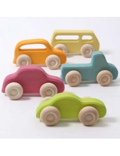 Set de 5 véhicules en bois
