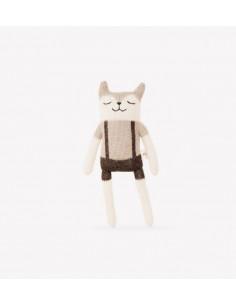 Doudou en laine - Fawn overalls