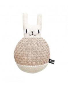 Peluche en laine Roly Poly Rabbit - Sand