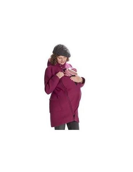 Manteau laine feutrée - Fuchsia