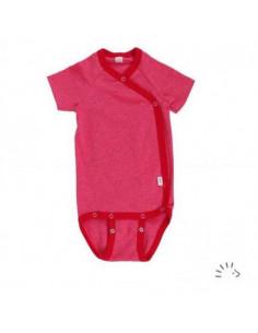 Body croisé coton bio manche courte 50-56 - Rouge