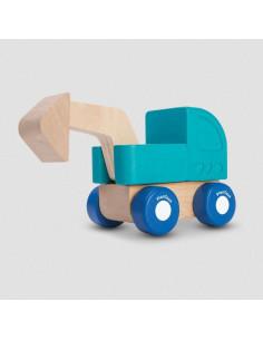 Mini véhicule en bois - Pelleteuse