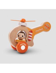 Véhicule en bois - Hélicoptère